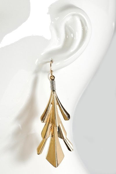 Leaf Dangle Hook Earrings - stevenwick