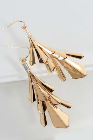Leaf Dangle Hook Earrings - steven wick