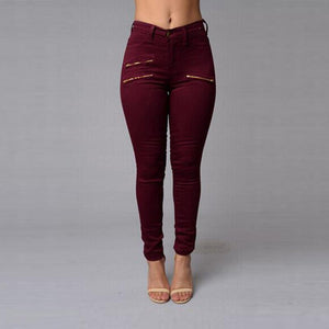 Wine Red Ankle Length Pants - STEVEN WICK
