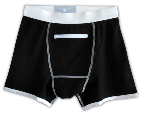 Black Underwear with a Secret Stash Pocket