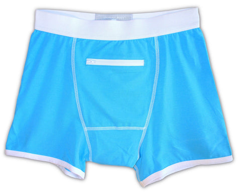 Blue Underwear with a Secret Stash Pocket