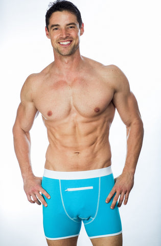 Blue Speakeasy Briefs underwear with zipper pocket