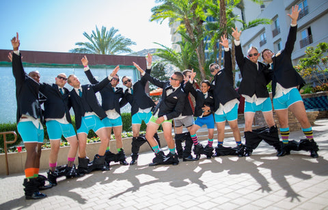 Groomsmen wearing Speakeasy Briefs at the wedding