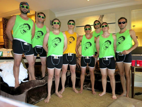 Bachelor party wearing Speakeasy Briefs in Las Vegas