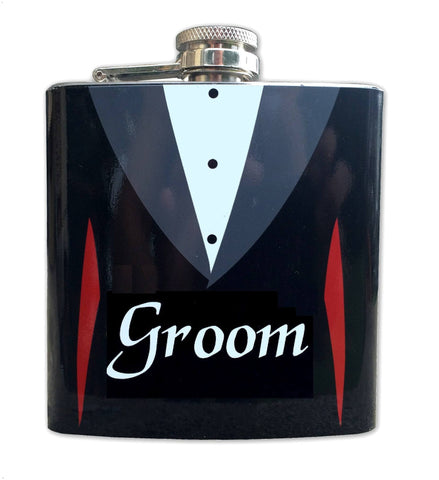 Stainless Steel 6 oz Groom Flask