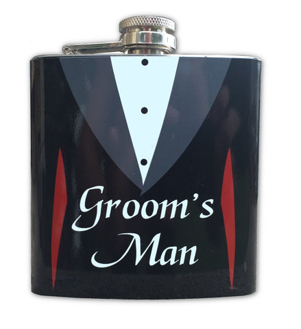 Stainless Steel 6 oz Groom's Man Flask