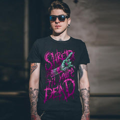 Shred Till Your Dead Aesthetic Zombie Hand grunge T-shirt