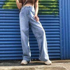 Aesthetic High Waisted Jeans Pants