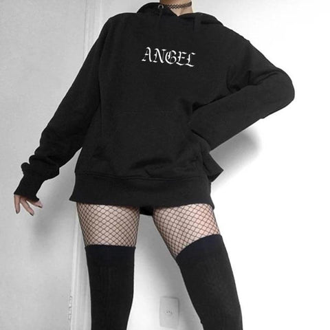 Angel Hoodie Gothic Style Pullovers Long Sleeve