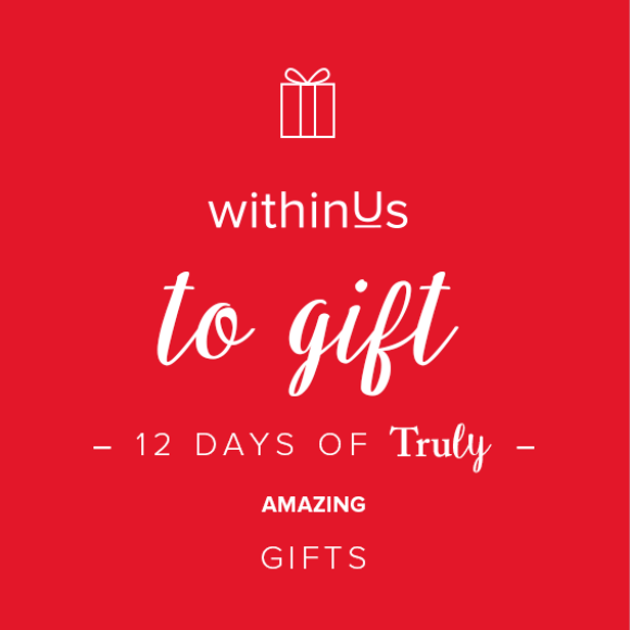 GIVEAWAY CLOSED -  WITHINUS 12 DAYS OF TRULY AMAZING GIFTS - DAY 7