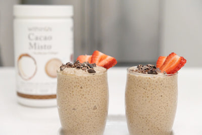 CACAO MISTO CHIA SEED PUDDING + TRUMARINE™ COLLAGEN