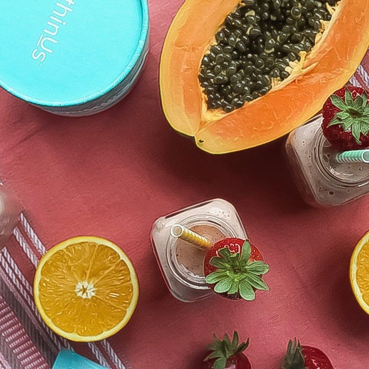 GET THE GLOW PAPAYA SMOOTHIE ~ JACLYN IRWIN