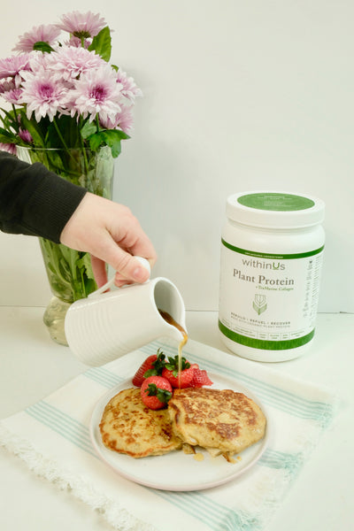 protein pancakes + collagen recipe
