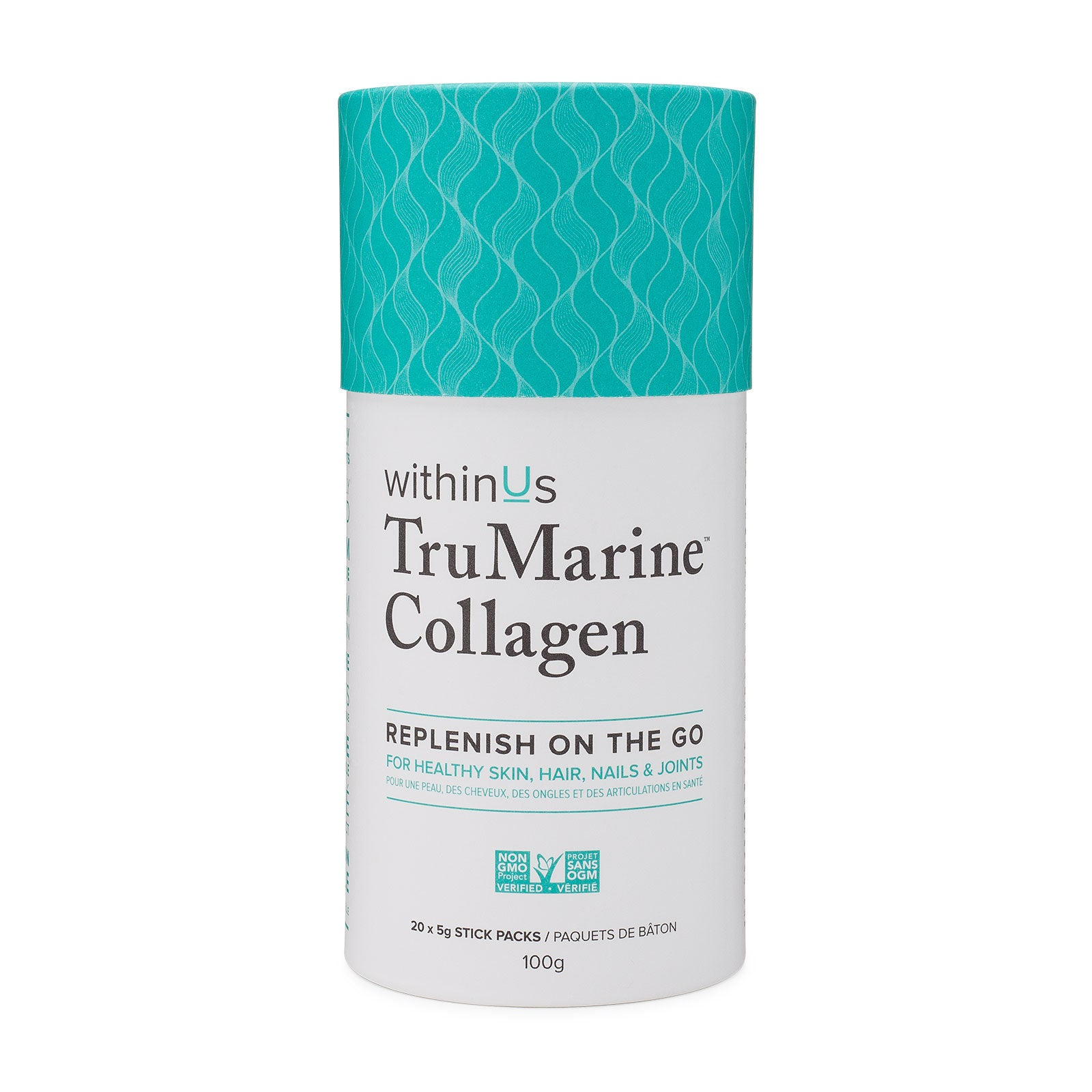 withinUs TruMarine™ Collagen Stick Pack Container 100g (5g x 20 ...
