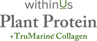Plant Protein + TruMarine™ Collagen FAQ text header
