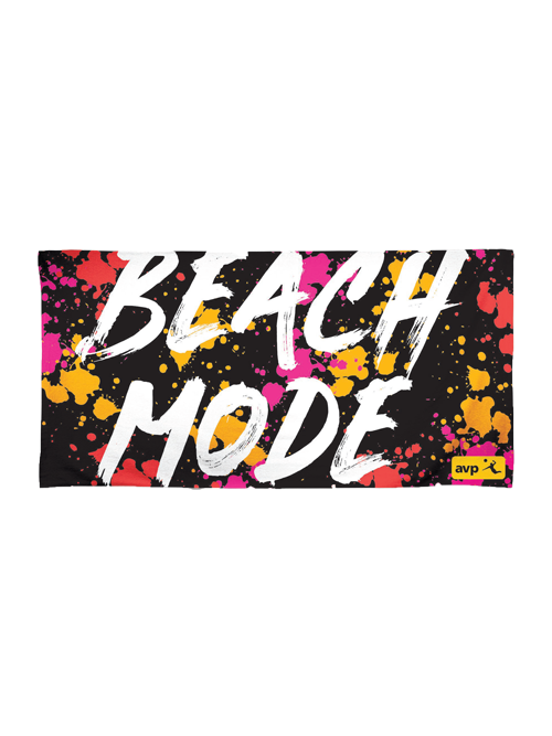 AVP Paint Splatter Beach Mode Towel