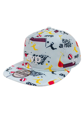Load image into Gallery viewer, AVP Repreve Splasy Print Golfer Snapback Cap - Light Blue