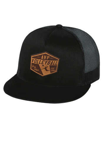 AVP Tag It Patch Trucker Cap - Black