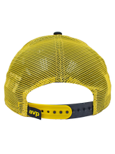 Load image into Gallery viewer, AVP 9FIFTY Beach Mode Frame Trucker Snapback Cap - Yellow