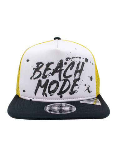 AVP 9FIFTY Beach Mode Frame Trucker Snapback Cap - Yellow