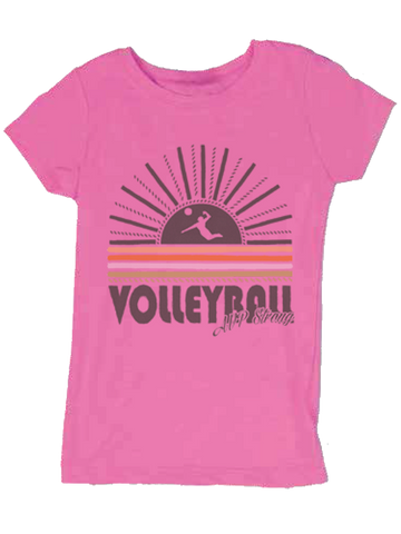 AVP Youth Girls Sunset Crew T-Shirt