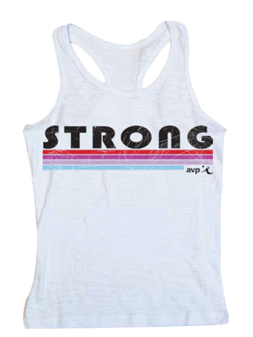 AVP Youth Girls Volleyball Racerback Tank