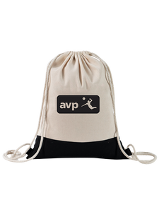 AVP Logo Two Tone Drawstring Bag