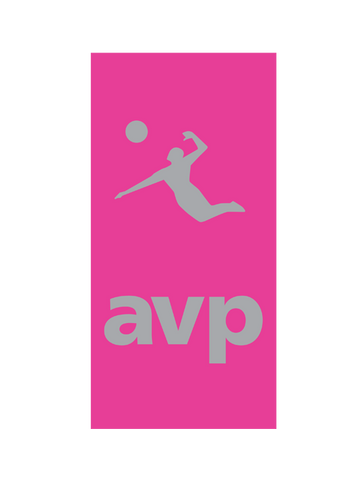 AVP Colored Beach Towel - Fuchsia