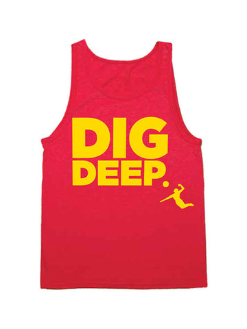 AVP Dig Deep Stacked Logo Bi Blend Tank