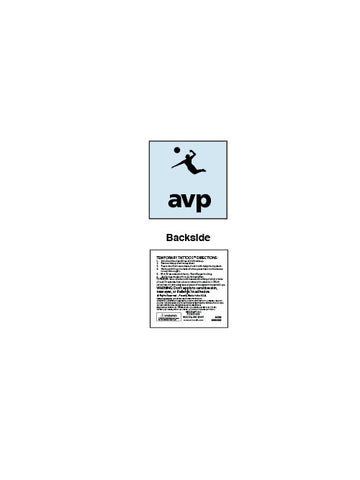 AVP Temporary Tattoo