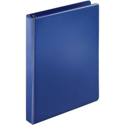 "1"" D-Ring Binder; Non-View, Dark Blue, 3-Ring"