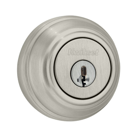 Kwikset 980 Single Cylinder Deadbolt w/SmartKey Satin Nickel 980 15 SMT