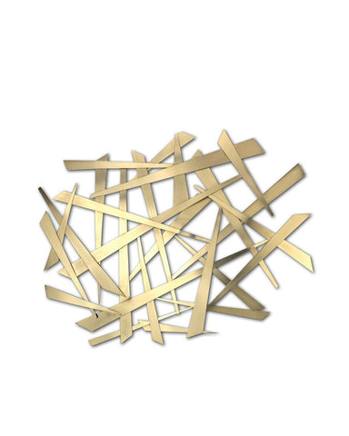 Nova Lighting 10332 Nickel; Abstract Criss Cross Wall Art From The Criss Cross Collection
