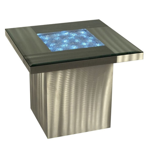 "Nova Lighting 5010000 Brushed Aluminum 20"" Height Lighted Table from the Shattered Collection"