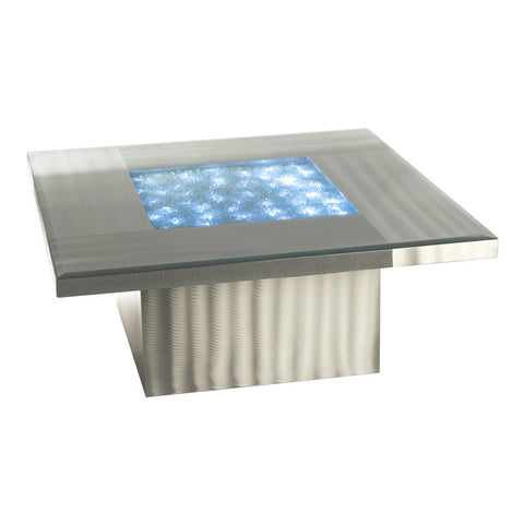 "Nova Lighting 5110000 Brushed Aluminum 15"" Height Lighted Table from the Shattered Collection"