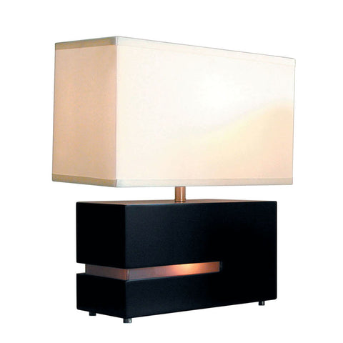 Nova Lighting 0284DC Dark Brown Zen 1 Light Table Lamp