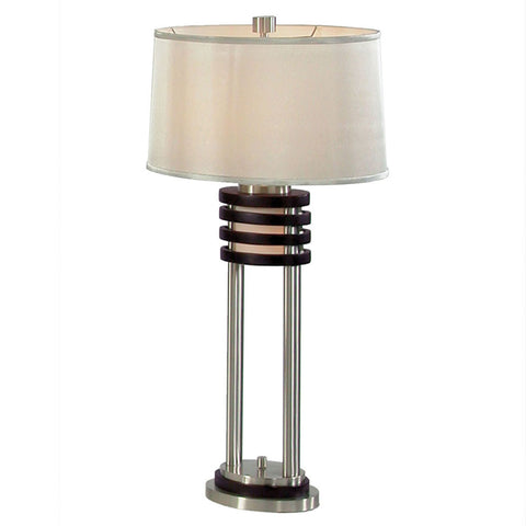 Nova Lighting 0327DS Dark Brown Wood 26 Inch Buffet Lamp From the Kobe Collection