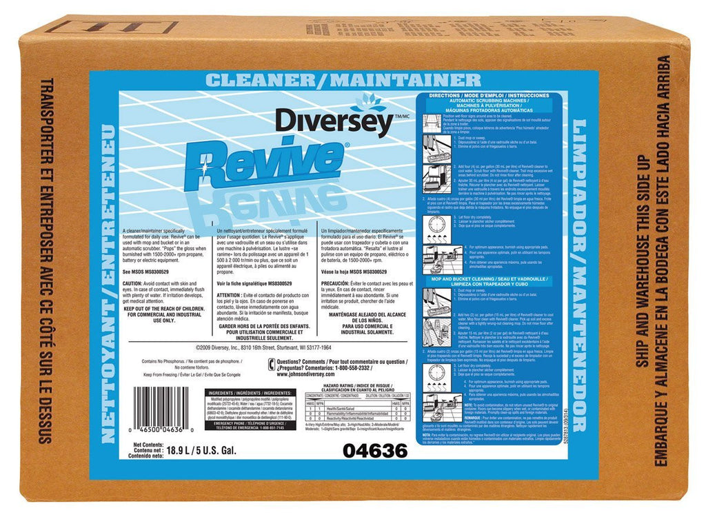Revive UHS Cleaner and Maintainer by DIVERSEY - 5 Gallon