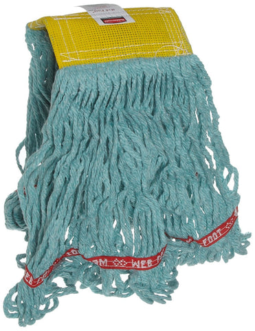 Rubbermaid Commercial FGA15106GR00 Web Foot Wet Mop, Small, 5-inch Yellow Headband, Green