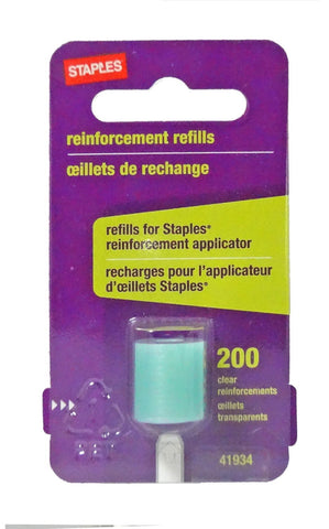 Reinforcement Applicator Refills, Clear, 200/Pack