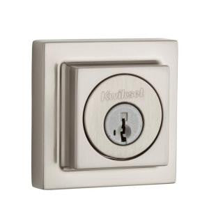 Kwikset 994SQT-S (Satin Nickel) Smart Key Square Contemporary Double Cylinder Deadbolt
