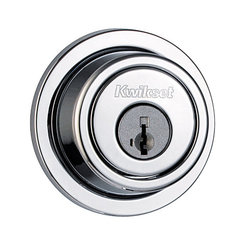 Kwikset 993RDT-S (Satin Chrome) SmartKey Round Contemporary Single Cylinder Deadbolt