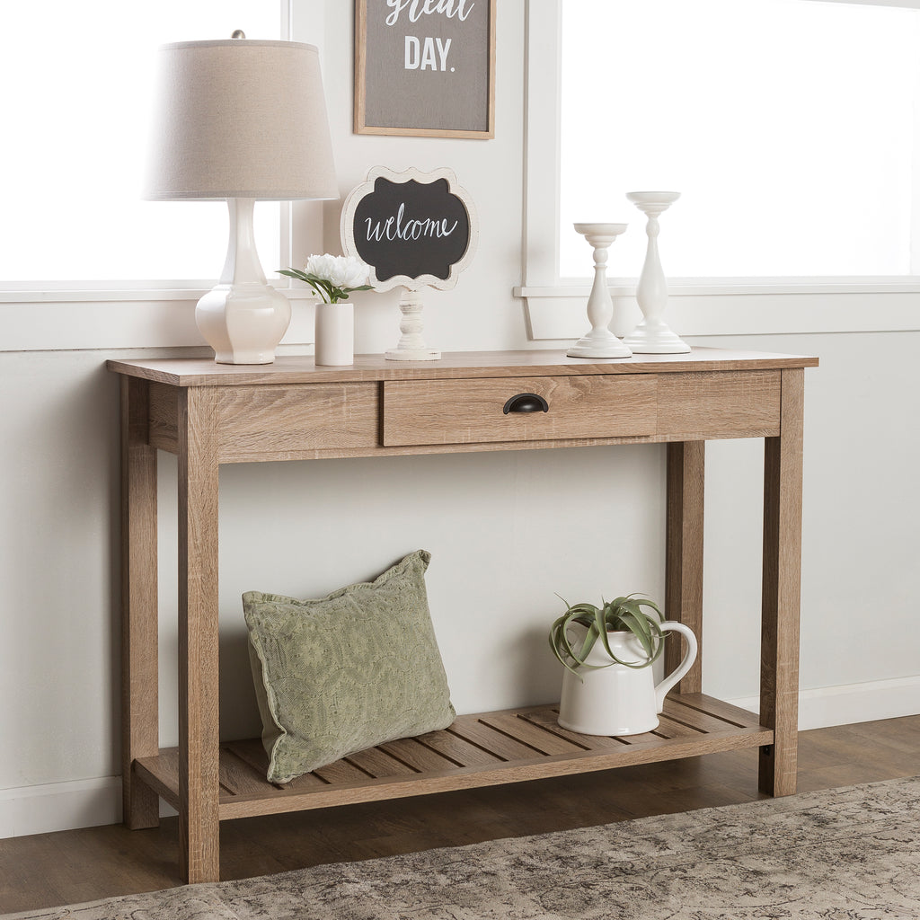 "48"" Country Style Entry Console Table - Natural"