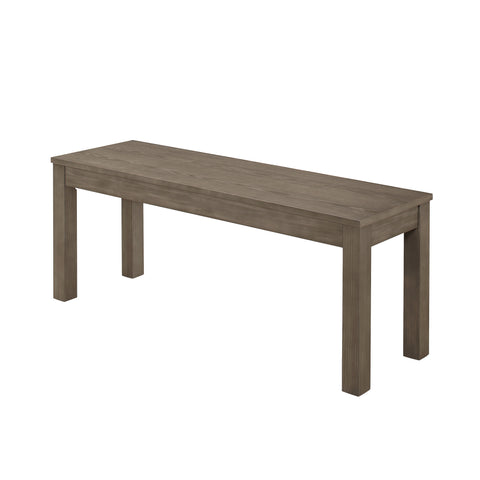 "48"" Homestead Simple Wood Dining Bench - Aged Grey"