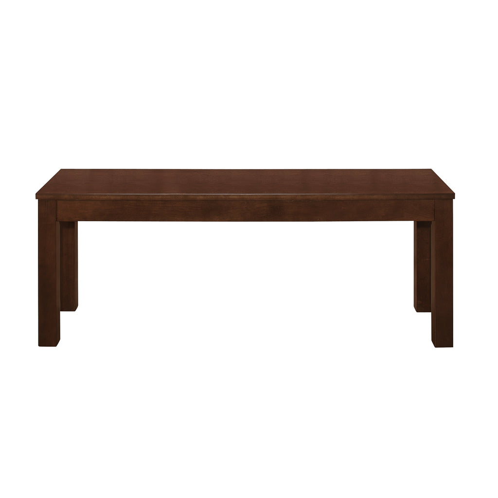 "48"" Homestead Simple Wood Dining Bench - Walnut"