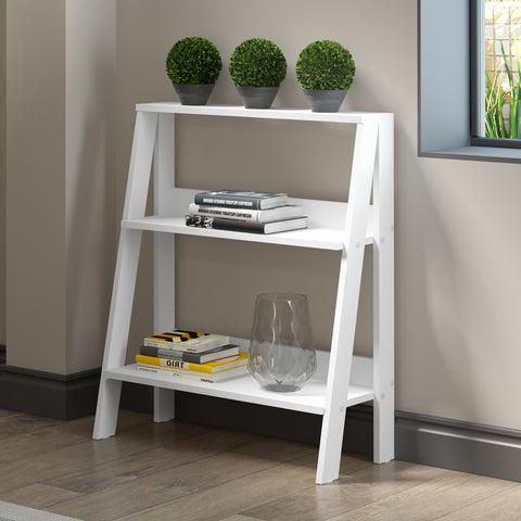 "30"" Wood Ladder Bookshelf - White"