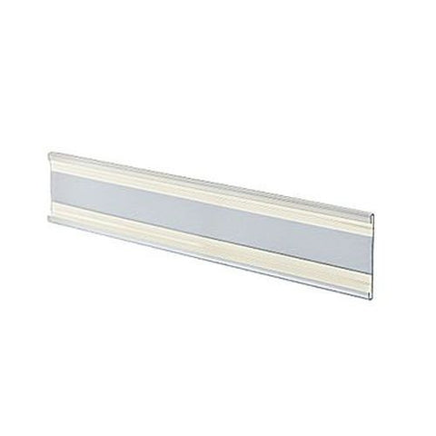 "2"" x 8 1/2"" Plastic Adhesive-Back C-Channel Nameplates, Clear, (PACK OF 10)"