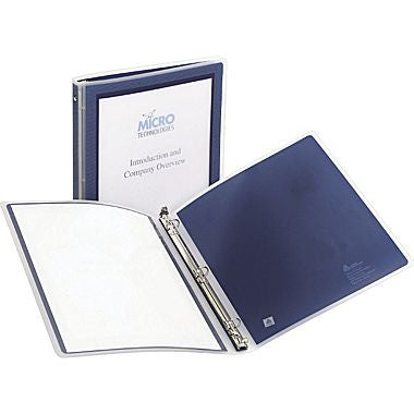 "1"" Avery® Flexi-View Presentation Binder with Round Rings, Navy Blue"