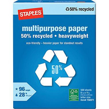 50% Recycled Heavyweight Multipurpose Paper, Ream 500 SHEETS