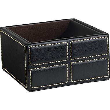 Mission Faux Leather Clip Holder